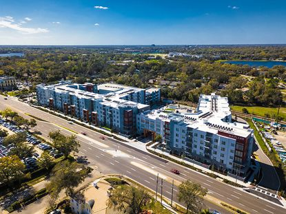 An aerial of Maitland Station Apartments