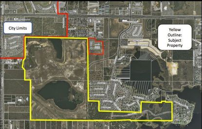 Boundaries of new Mattamy housing development planned for Clermont.