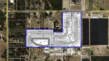 The Oak View subdivision contains 114 single-family lots and is located south of Kelly Park Road and east of Round Lake Road.