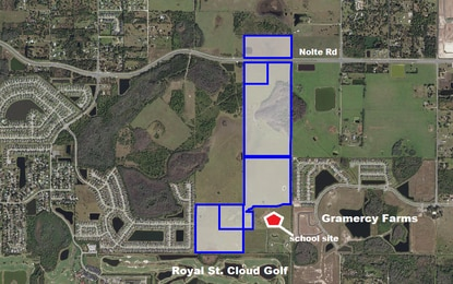 St. Cloud has approved a 451-home subdivision on 176 acres west of Old Hickory Tree Road.