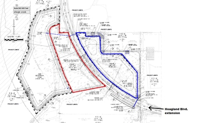 Atlanta-based Stein Investment Group is seeking permits for two industrial lots straddling the future Hoagland Boulevard extension, just south of Kissimmee Gateway Airport. Both lots are 9-plus acres.