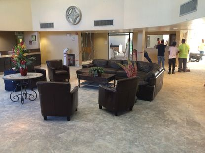 Lobby renovations were underway on May 15 at the WOW Resort on W. Sand Lake Road, which was taken over by new ownership and management in late April.