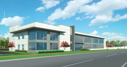 The latest rendering and approved horizontal placement of the proposed medical office building at 1111 W. Fairbanks Ave.