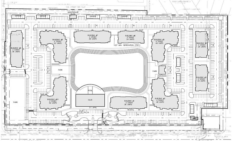 A site plan for Elan Cypress Pointe development