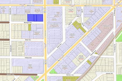 Highlighted in blue are three properties recently purchased by a retail tenant at the corner of Michigan and Orlando avenues in Winter Park.