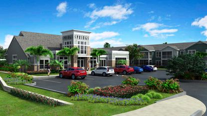 Springs at Posner Park will have a pool with clubhouse and fitness center, a dog park and pet spa and a car-care area.