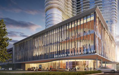 This rendering depicts a second location for Orlando Museum of Art in a new tower being built by Summa Development Group at Church, Pine and Lake streets.