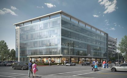 The daylight rendering of a renovation design for 500 N. Orange Ave.