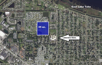Pulte to buy 25-acre parcel near East Lake Toho from Osceola Schools