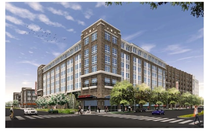The Crescent Lucerne mixed-use project in downtown Orlando features two apartment buildings with a parking deck and ground floor retail. The latest plans name organic grocer Earth Fare as the anchor tenant.