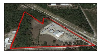 Outlined in red is nearly 20 acres at 2320 N. Orange Blossom Trail, just outside Apopka, that was recently acquired by Cowart Mulch.