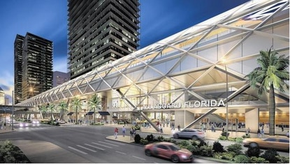 How an All Aboard Florida train depot may look