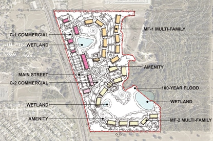 The Clermont City Council approved the land use and zoning to allow up to 600 multifamily units and 120,000 square feet of commercial uses on this 80-acre site just south of Hartwood Marsh Road in the Wellness Way area.