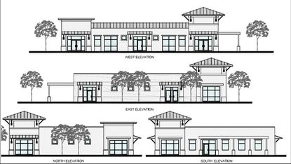 An elevation of one of the two buildings planned for Central Parc at Bridgewater Crossings, in Windermere.