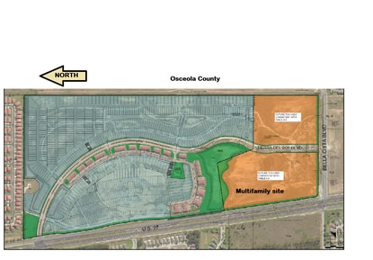The new owner of Tierra Del Sol won approval from Polk County's Planning Commission to redesign the resort community with a compact single family homes (blue) and a potential 300-unit apartment complex (orange).