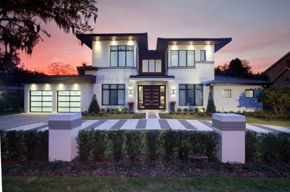 A view of the front of the custom home recently bought by NBA player Evan Fournier.