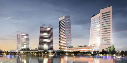 Italian design firm Pininfarina has pledged to bring a sense of luxury and elegance to Kissimmee's Magic Place, as shown in this conceptual illustration.