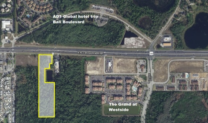 North Carolina-based UTV Rush met with Osceola County planners on Wednesday to discuss a potential off-road track on this vacant W192 parcel in the Four Corners area.