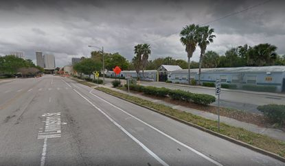 On the right side of this image, south of W. Livingston Street, is the 5.5-acre Nap Ford Community School property that will be demolished in the coming weeks to make way for UCF's Downtown Campus. Downtown Orlando can be seen in the background to the east.