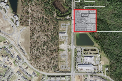 Central Florida Investments has applied to rezone 188.5 acres on Osceola County's Westside Boulevard corridor, including this prospective 20-acre multifamily site.