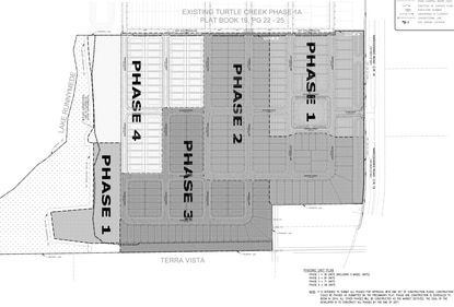 Construction plans for Preserve at Turtle Creek call for the 244-lot subdivision to be built in four phases.