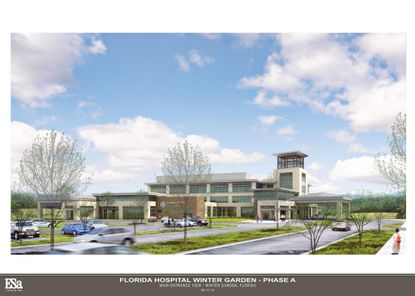 Florida Hospital Winter Garden is under construction across from Fowler Groves in Winter Garden.