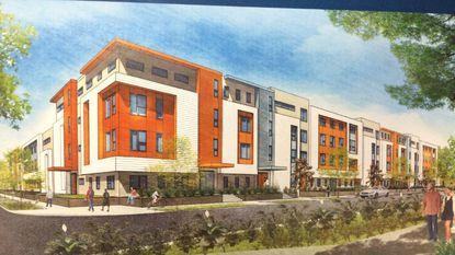 An artist's rendering from TVC Development (Vestcor) out of Jacksonville, of what its apartments may look like on six city-owned acres in Parramore.
