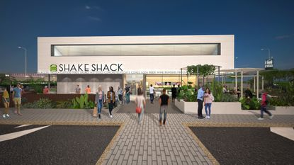 Orlando's fifth Shake Shack will be constructed with recycled and sustainable materials and will also feature an outdoor patio with ample seating for guests.