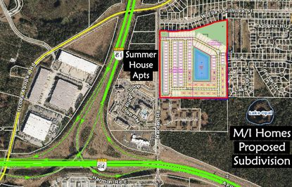 Cascades at Marden, a newly proposed subdivision with 101 single-family homes and 80 townhomes, sits near other developments proposed in Apopka.