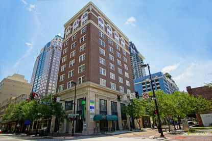 The 10-story Metcalf building at 100 S. Orange Ave. is nearing the century mark and has a buyer under contract.