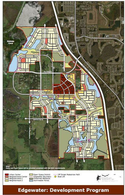 Osceola County has approved the Concept Plan for Edgewater, which was purchased Tuesday by BTI partners for $40 million.
