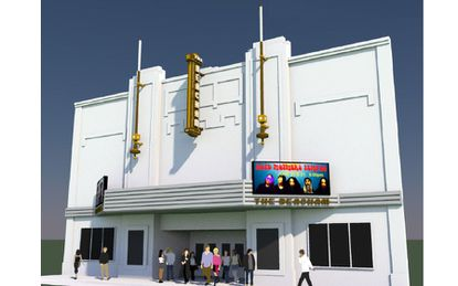 Conceptual perspective of the proposed plans for Beacham Theater renovation.