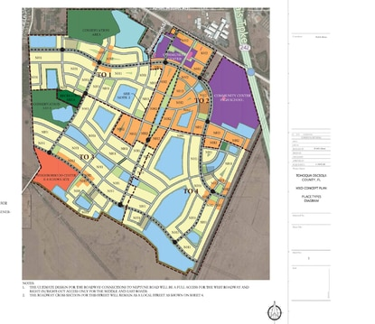 Osceola County's Development Review Committee is scheduled to consider a new conceptual plan for Tohoqua, one of five master-planned communities in the East of Lake Toho district.