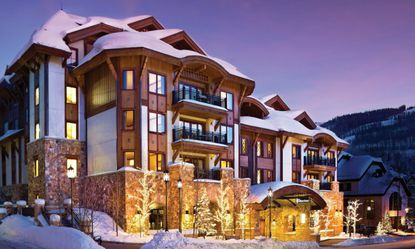 A view of The Sebastian resort hotel and private residence club in Vail, Colorado.