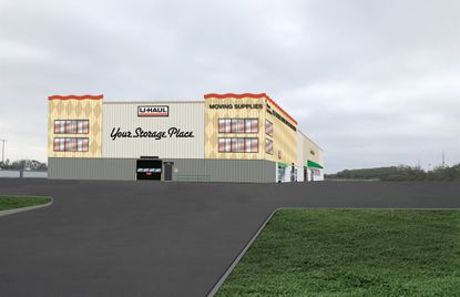 Rendering of a three-story U-Haul full-service moving and self-storage facility, which the company iscurrently building on Narcoossee Road, with plans in review for asecond-phase truck maintenance facility.