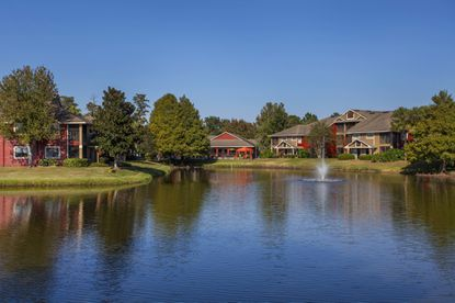 A lake view of the Auvers Village apartments near Baldwin Park.