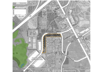 DeBartolo Development's first BFR community in Central Florida would be along Homerun Boulevard, across from Posner City Center in Davenport.