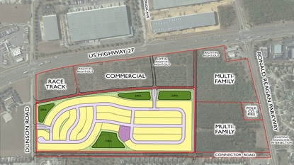 Pulte Homes plans to build a residential subdivision on 60 acres of the land that was approved for a regional mall called Four Corners Town Center.