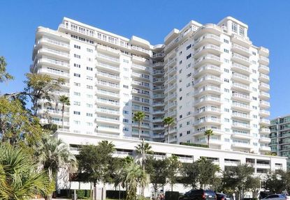 The 18-story Sanctuary condominium tower in Downtown Orlando, on S. Eola Drive.
