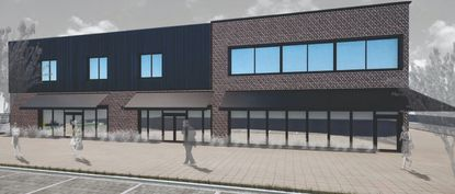 A rendering of the proposed office building on the northeast corner of South Lake Avenue and West Third Street.