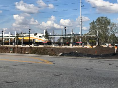 AV Homes new Solstice community will be walking distance to the the Poinciana SunRail station, which opens in July 2018. Florida Department of Transportation has been running test trains at the station this week.