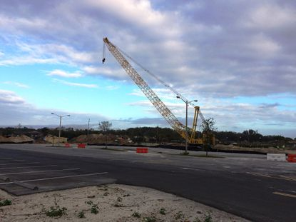 Site work is well underway by The Bainbridge Companies on a 3.7-acre site in Winter Park's Ravaudage development, where it should start vertical construction soon on a five-story apartment complex.