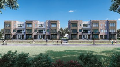 An exterior rendering of the 30 North Park project in Winter Garden.