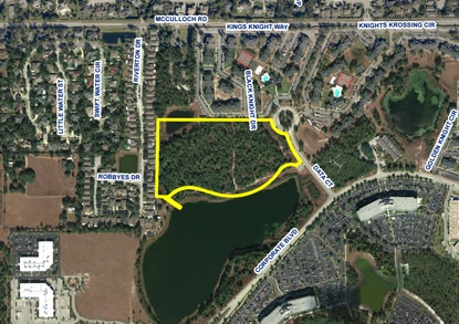 The proposed charter school would be built at 4780 Data Court near UCF, on a 9.7-acre portion of a 16-acre parcel.