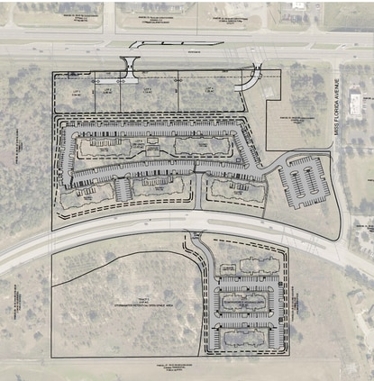 """The proposed project would have 72 affordable workforce units south of Hooks Street and another 25 """"floating"""" units interspersed among the 250 units north of Hooks Street."""