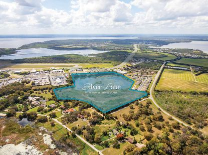 The 47.5-acre site sits between North Silver Lake Road and U.S. 441.
