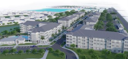 Falcone's Hungerford District at Eatonville proposal features 342 affordable multifamily units and 34 townhomes.