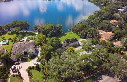 An aerial of the 1.8-upland acre property on Palmer Avenue in Winter Park recently sold to a local real estate developer.