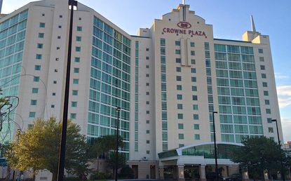 The future of the Crowne Plaza Universal Orlando hotel on Universal Boulevard is uncertain.