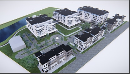 The PZ Square development would bring a walkable, urban lifestyle center to Groveland.